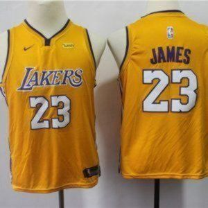 Youth LeBron James Los Angeles Lakers Gold Jersey